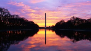 2013; Photo; Washington Monument and Reflecting Pool sunrise; Google pics